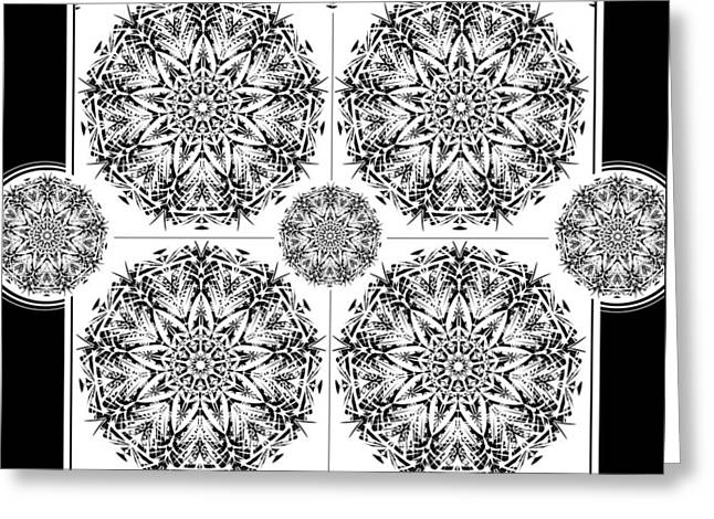 Mystic Tapestries - Textiles Greeting Cards - Modern Mandala #3 Greeting Card by Cecily McKeown
