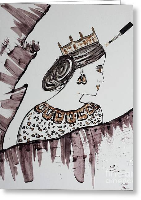 Book Cover Art Greeting Cards - Modern Queen Greeting Card by Jasna Gopic