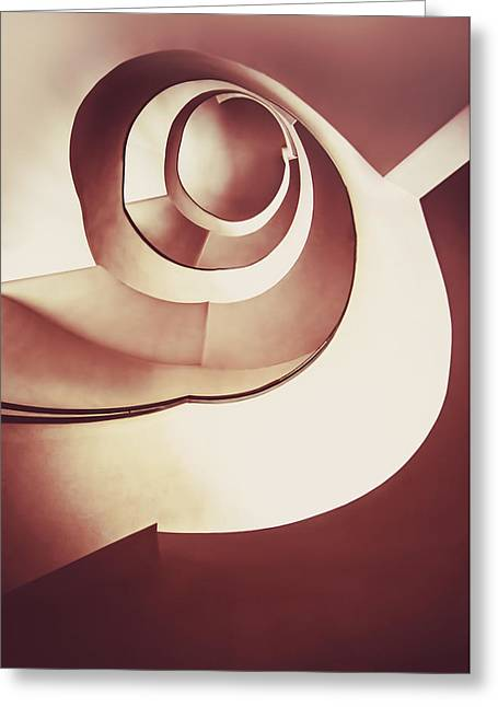 Stepping Stones Greeting Cards - Modern spiral staircase Greeting Card by Jaroslaw Blaminsky