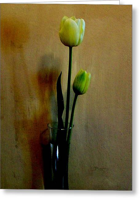 Versatile Greeting Cards - Modern Tulips Greeting Card by Marsha Heiken