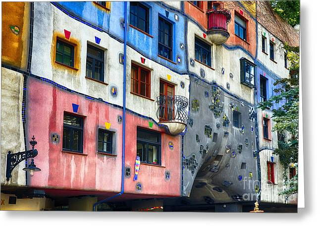 Friedensreich Greeting Cards - Modern Vienna Impression I Greeting Card by George Oze