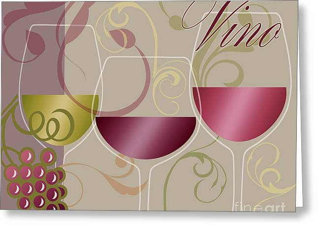 Muted Greeting Cards - Modern Wine I Greeting Card by Mindy Sommers