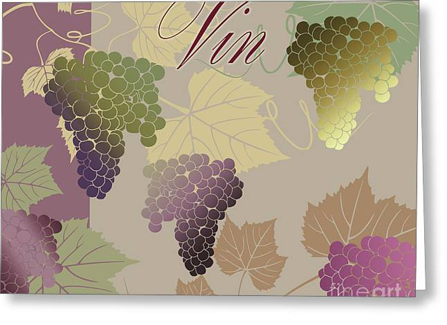 Muted Greeting Cards - Modern Wine IV Greeting Card by Mindy Sommers