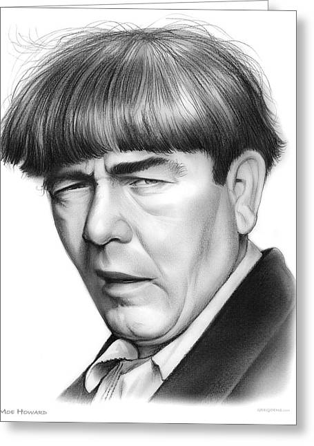 Moe Howard Greeting Card by Greg Joens