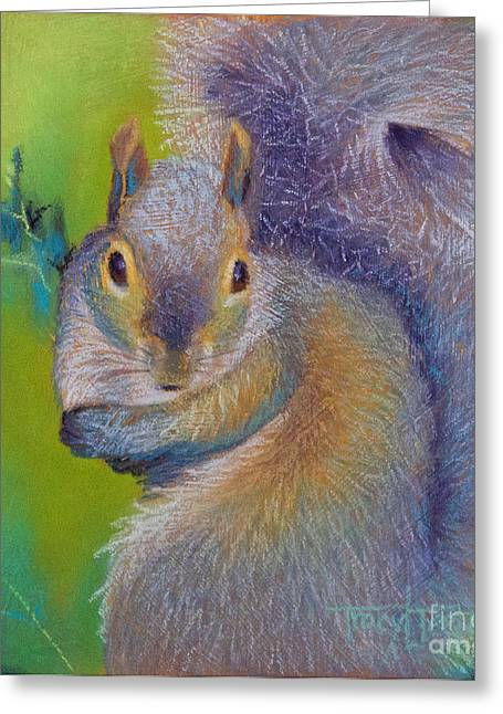 Ground Pastels Greeting Cards - Moe Greeting Card by Tracy L Teeter