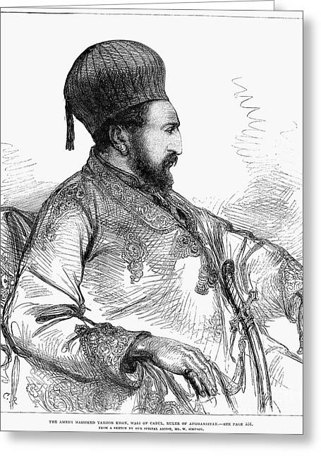 1879 Greeting Cards - Mohammed Yakub Khan Greeting Card by Granger