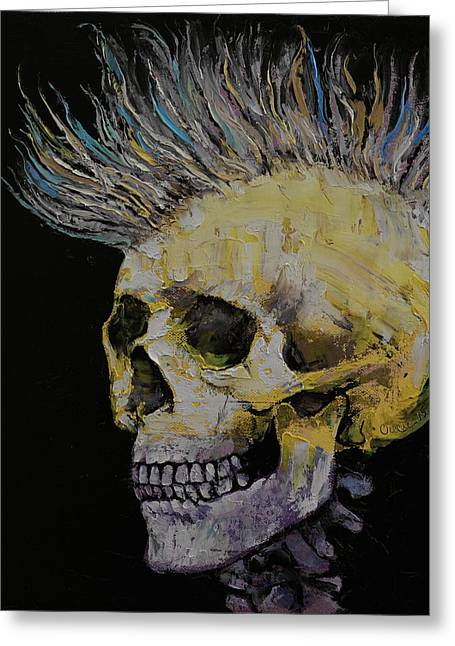 Hairdo Greeting Cards - Mohawk Greeting Card by Michael Creese