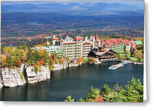 Inn Greeting Cards - Mohonk Mountain House Greeting Card by June Marie Sobrito
