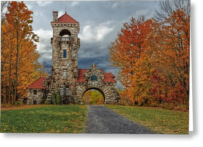 Mohonk Preserve Gatehouse Greeting Card by Susan Candelario