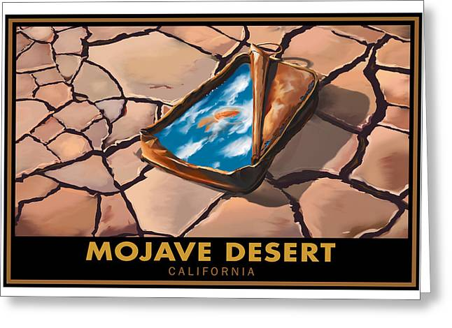 Dry Lake Paintings Greeting Cards - Mojave Dry Lake Greeting Card by Steve Beaumont