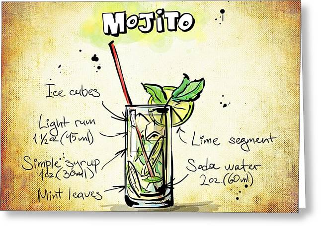 Gathering Mixed Media Greeting Cards - Mojito Greeting Card by Movie Poster Prints