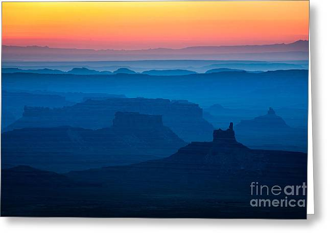 Layer Greeting Cards - Moki Dugway Sunrise Greeting Card by Inge Johnsson