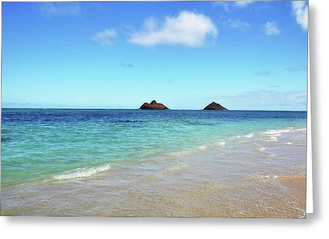 Mokulua Islands Greeting Card by Kelly Wade