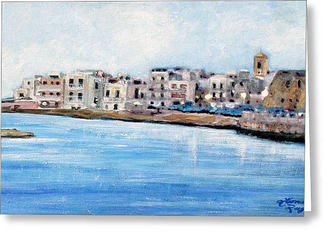 Southern Italy Greeting Cards - Mola Di Bari Greeting Card by Leonardo Ruggieri