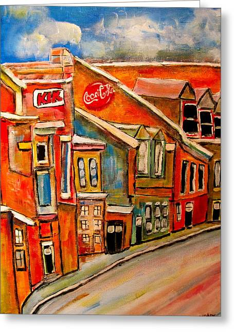 Michael Litvack Greeting Cards - Molasses and Beer District Greeting Card by Michael Litvack