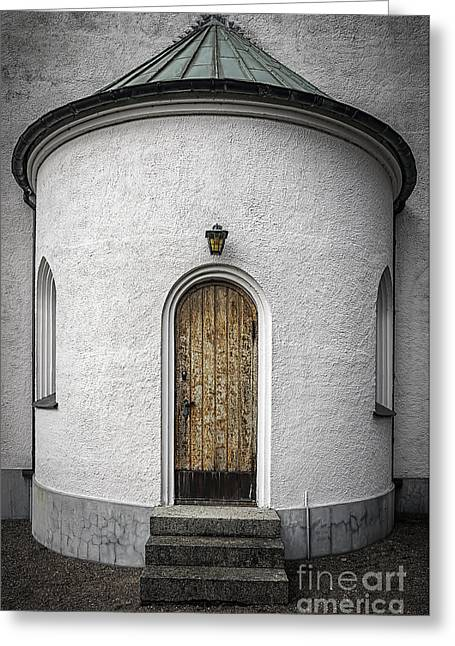 Protestantism Greeting Cards - Molle Kapell Back Door Greeting Card by Antony McAulay