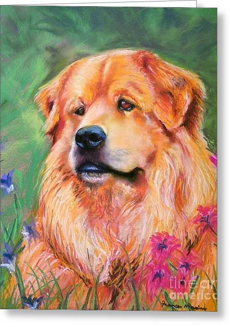 Chow Greeting Cards - Molly Greeting Card by Frances Marino