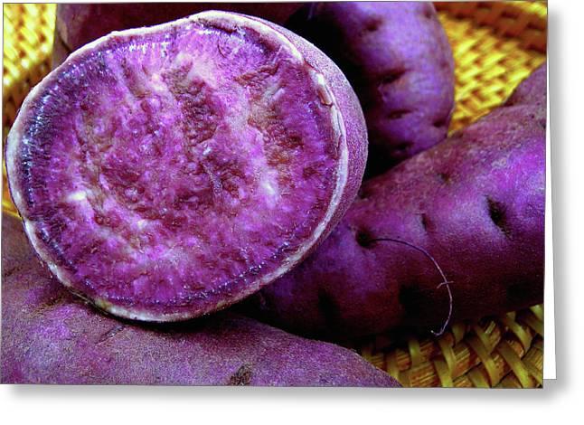 James Temple Greeting Cards - Molokai Purple Sweet Potatoes Greeting Card by James Temple