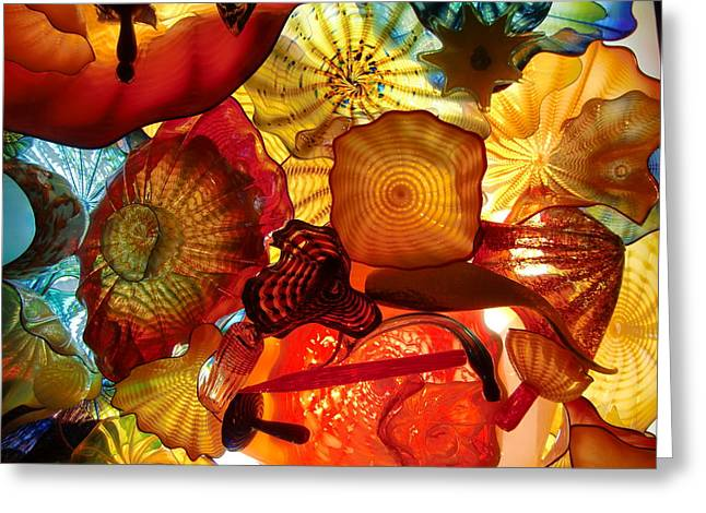 Art Blown Glass Greeting Cards - Molten Glass Array Greeting Card by Richard Mansfield