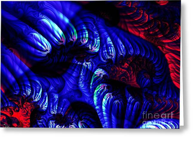 Embers Greeting Cards - Molten Reef Convection Greeting Card by Ron Bissett