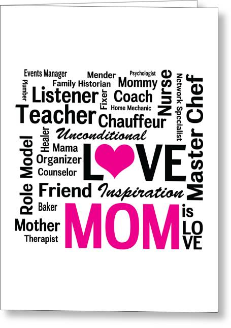 Role Model Greeting Cards - Mom is Love Greeting Card by Antique Images