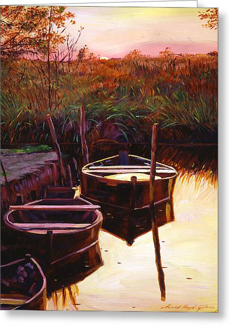 Most Greeting Cards - Moment at Sunrise Greeting Card by David Lloyd Glover