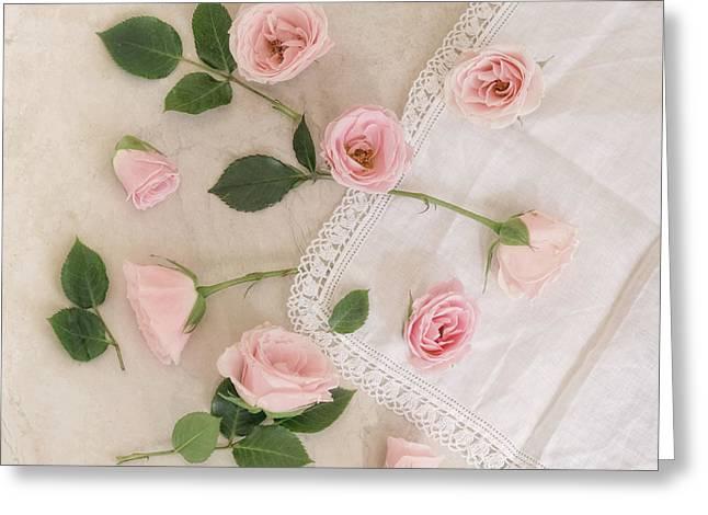 Moments Of Pink Greeting Card by Kim Hojnacki