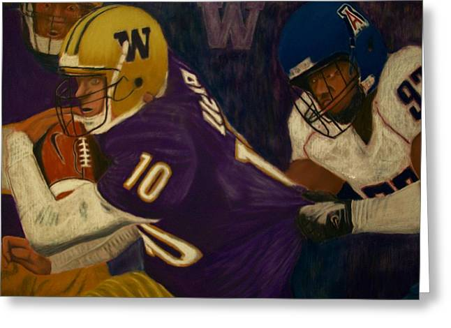 Actions Pastels Greeting Cards - Momentum featuring Jake Locker Greeting Card by D Rogale