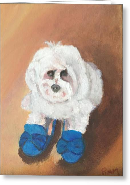 Mommie's Shoes Greeting Card by Betty Pimm