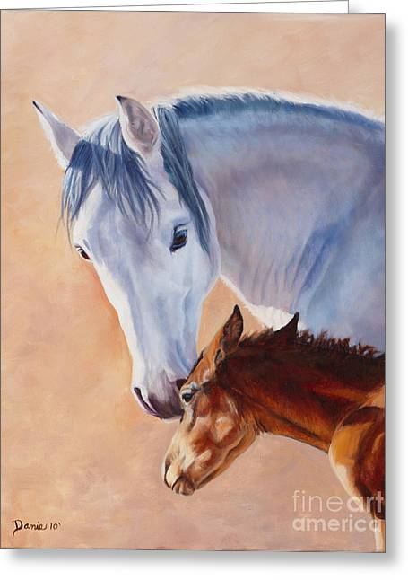 Danielle Smith Greeting Cards - Mommys Love Greeting Card by Danielle Smith