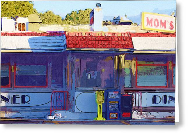 Mom's Diner Greeting Card by Rick Black