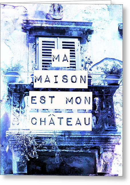 Chateau Greeting Cards - Mon Chateau Greeting Card by Yolanda Jimenez