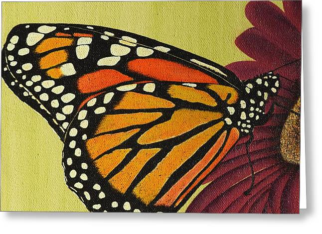 Coloured Greeting Cards - Monarch Butterfly Greeting Card by Sharon Patterson