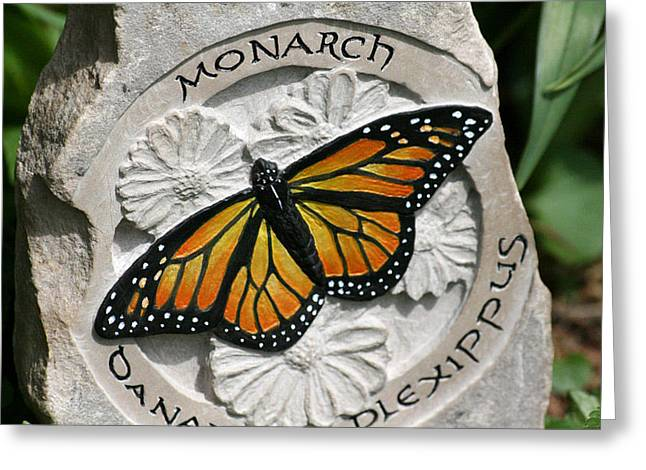 Hand Reliefs Greeting Cards - Monarch Greeting Card by Ken Hall