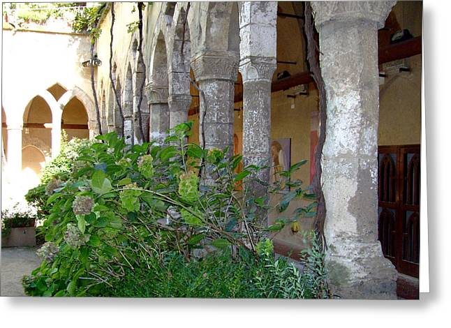 Repentance Greeting Cards - Monastary in Italy Greeting Card by Mindy Newman