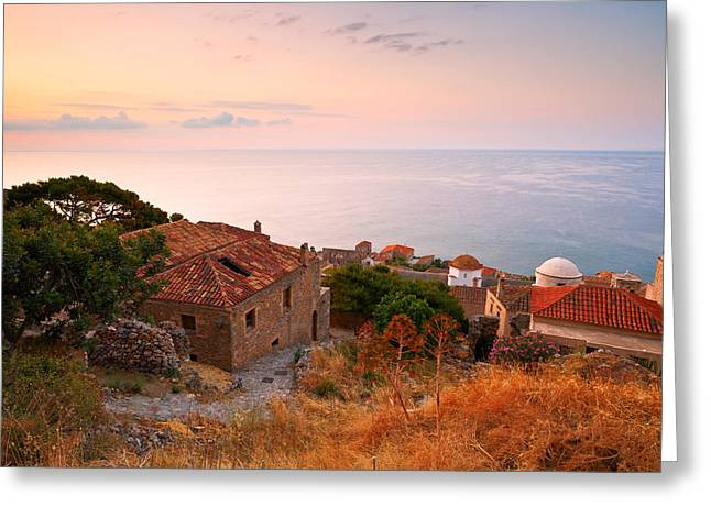 Historic Architecture Greeting Cards - monemvasia XIII Greeting Card by Milan Gonda
