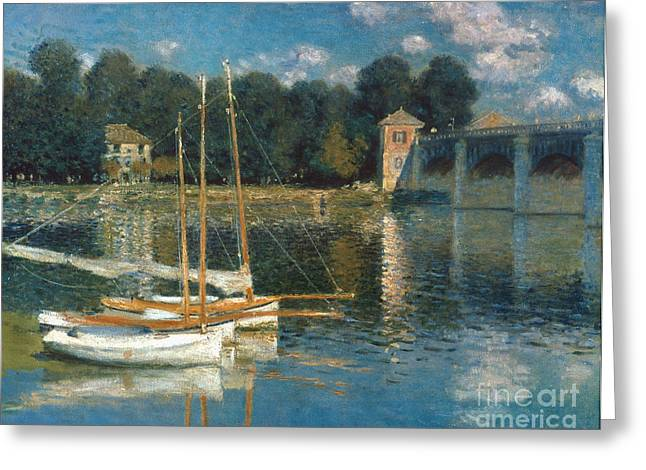Monet: Argenteuil Greeting Card by Granger
