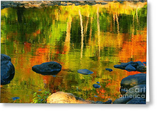 Autumn Photographs Greeting Cards - Monet Autumnal Greeting Card by Aimelle