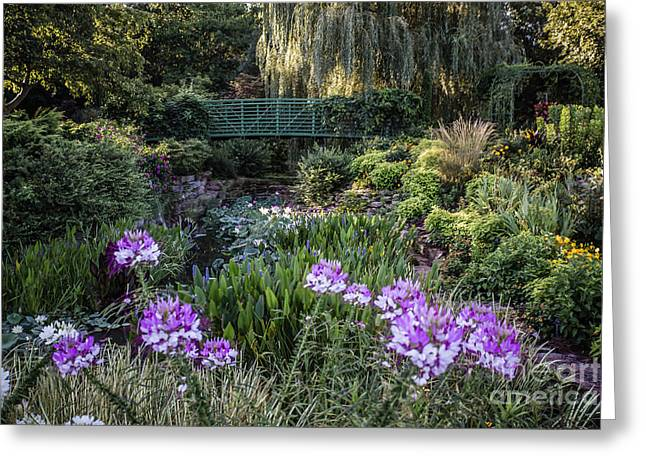 Subtle Colors Greeting Cards - Monet Garden Greeting Card by Lynn Sprowl