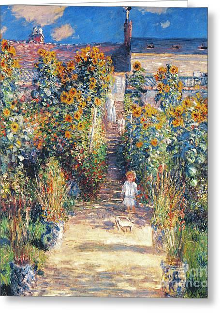 Vetheuil Greeting Cards - Monet: Garden/vetheuil Greeting Card by Granger