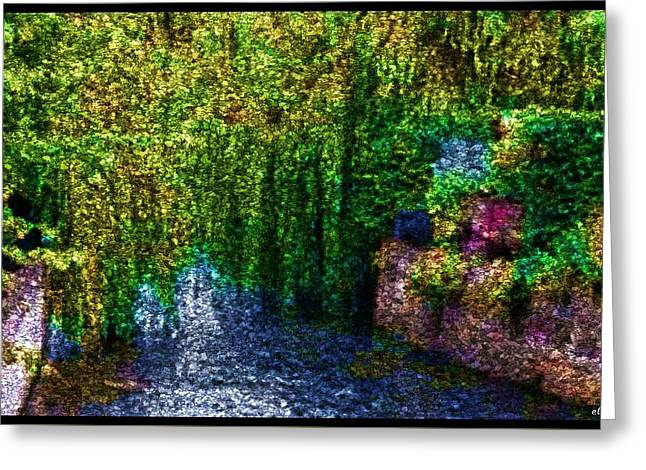 Stream Digital Art Greeting Cards - Monet Moment Greeting Card by Ellen Cannon