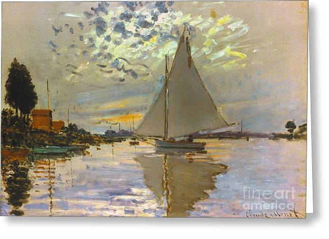 Gennevilliers Greeting Cards - Monet: Sailboat Greeting Card by Granger