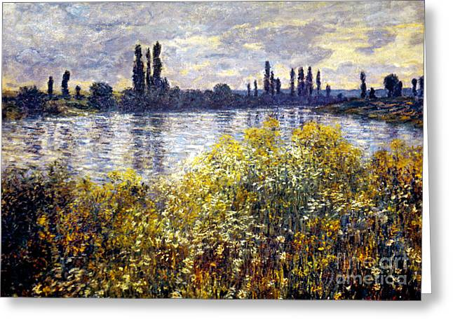 Vetheuil Photographs Greeting Cards - Monet: Seine/vetheil, 1880 Greeting Card by Granger
