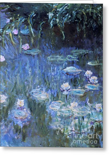 Monet: Waterlilies Greeting Card by Granger