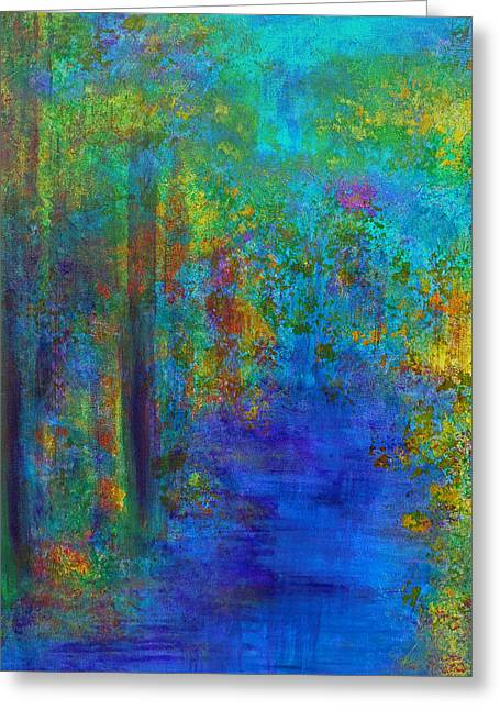 Claire Bull Greeting Cards - Monet Woods Greeting Card by Claire Bull