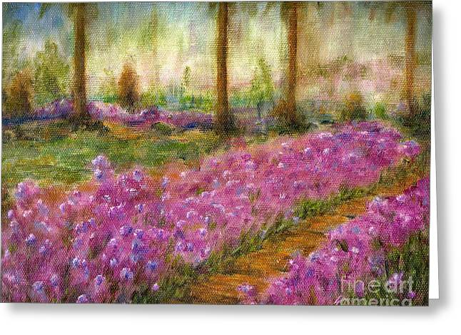 Jerome Stumphauzer Greeting Cards - Monets Garden in Cannes Greeting Card by Jerome Stumphauzer