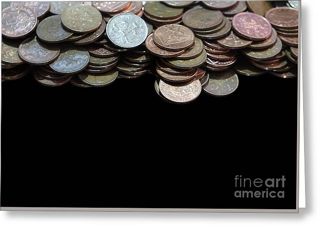 Money Games Greeting Card by Jasna Buncic