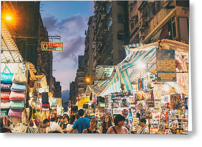 Mongkok Of Hong Kong Greeting Card by Tuimages