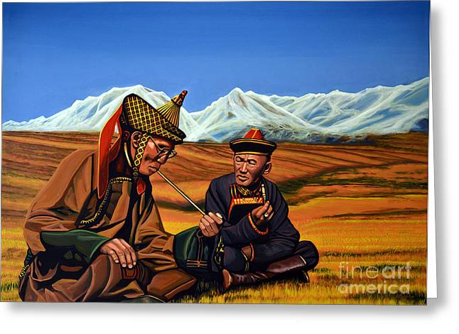 People Greeting Cards - Mongolia Land of the Eternal Blue Sky Greeting Card by Paul Meijering
