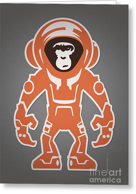 Monkey Crisis On Mars Greeting Card by Monkey Crisis On Mars